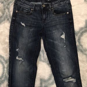 American Eagle Jeans Sz 4 Graphite Pocket Stones